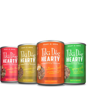 Tiki Pet Hearty Homestyle Recipe Canned Dog Food 12.5oz - Paw Naturals