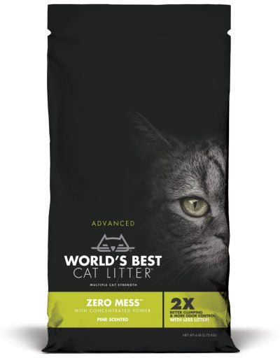 World's Best Cat Litter Advanced Zero Mess Pine Scented 6lb Cat Litter - Paw Naturals