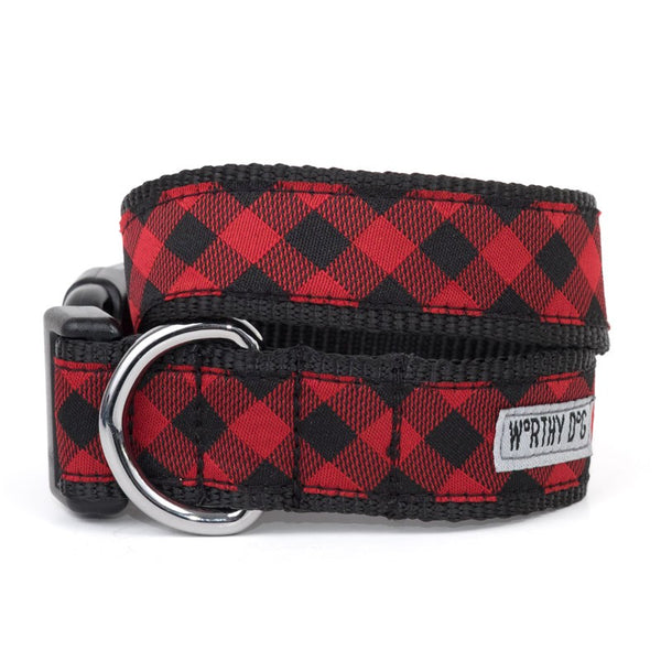 The Worthy Dog Bias Buffalo Plaid Collar & Lead Collection