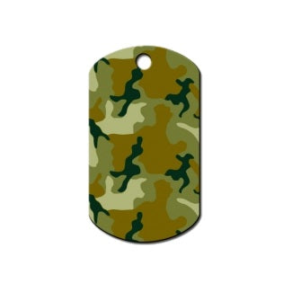 Hillman Group Green Camouflage Print Military Id Tag