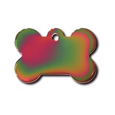 Hillman Group Large Polished Rainbow Bone Id Tag