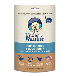 Under The Weather Rice, Chicken & Bone Broth Bland Diet 6.5oz - Paw Naturals