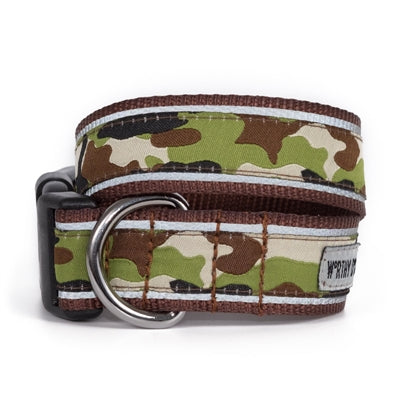 The Worthy Dog Camo Brown Collar & Lead Collection Small - Paw Naturals