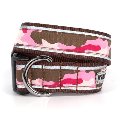 The Worthy Dog Camo Pink Collar & Lead Collection Small - Paw Naturals