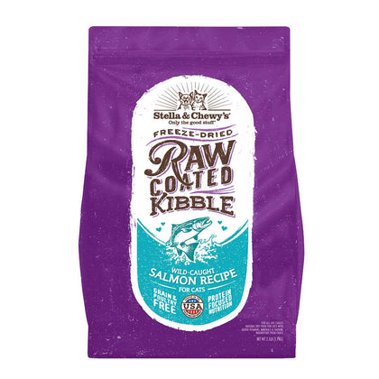 Stella & Chewy's Raw Coated Kibble Wild-Caught Salmon Recipe Dry Cat Food 2.5LB - Paw Naturals