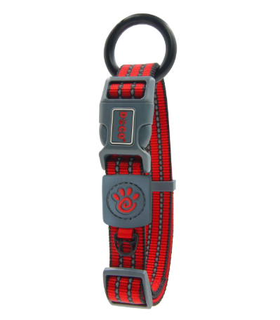 Doco Vario Reflective Dog Collar Medium / Red - Paw Naturals