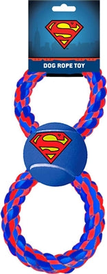 Buckle-Down Superman Tennis Ball Rope Toy