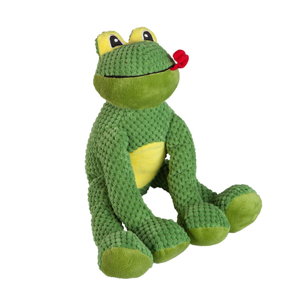 fab dog Fluffy Frog Plush Dog Toy