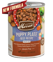 Merrick Puppy Plate Beef Recipe 12.7oz Canned Dog Food