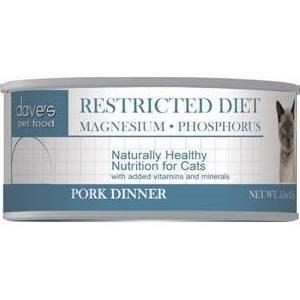 Dave's Pet Food Restricted Diet Magnesium Phosphorus Pork Dinner Canned Cat Food