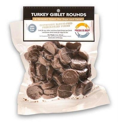 Fresh Is Best Freeze-Dried Turkey Giblet Rounds 4oz - Paw Naturals
