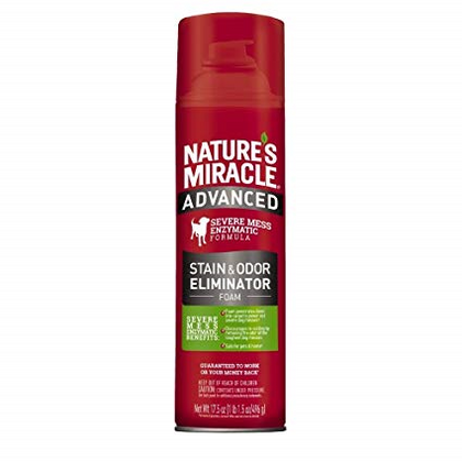 Nature's Miracle Advanced Dog Stain And Odor Remover Foam 17.5oz - Paw Naturals