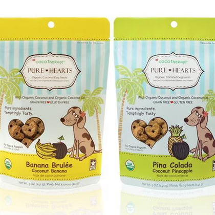 Coco Therapy Pure Hearts Dog Treat - Paw Naturals