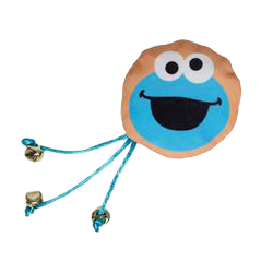 Pet Krewe Sesame Street Cookie Monster Cat Toy