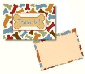 Dog Speak Thank You Card (Blank Inside)