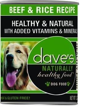 Dave's Pet Food Natural Healthy Beef Rice 13oz Canned Dog Food