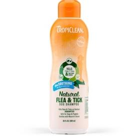 Tropiclean Natural Flea And Tick Shampoo Maximum Strength, 20oz - Paw Naturals