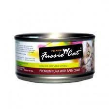 Fussie Cat Tuna With Baby Clams 2.82oz Canned Cat Food