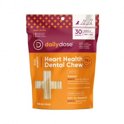 Daily Dose Heart Health Dental Dog Chew