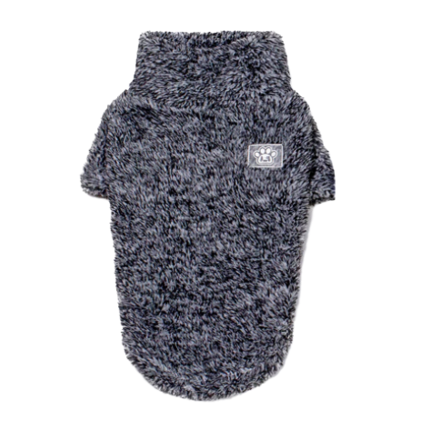 Sparky & Co Marshmallow Soft Plush Gray Sweater