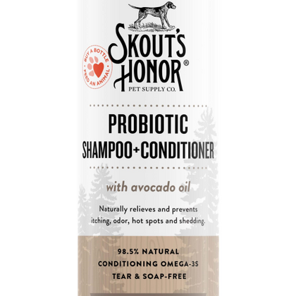 Skout's Honor Probiotic Shampoo + Conditioner Dog of the Woods (Sandalwood Vanilla) 16oz - Paw Naturals