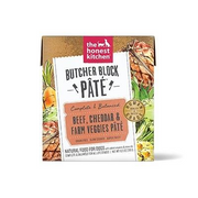 Honest Kitchen Butcher Block Pate for Dogs 10.5oz Beef, Cheddar & Farm Veggie - Paw Naturals