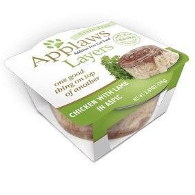 Applaws Layers Chicken Lamb 2.47oz Cat Can