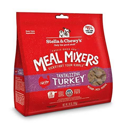 Stella & Chewy's Meal Mixer Tantalizing Turkey Raw Freeze-Dried Dog Food 18oz - Paw Naturals