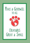 Dog Speak Holiday Greetings Card Peace And Goodwill To All... - Paw Naturals