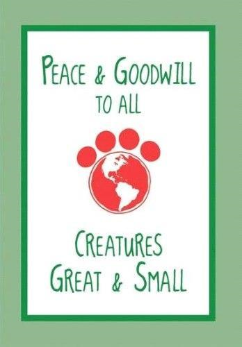 Dog Speak Holiday Greetings Card Peace And Goodwill To All...