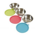 Messy Mutts Stainless Steel Bowl & Lid Set 6 Pc 1.5 cup - Paw Naturals