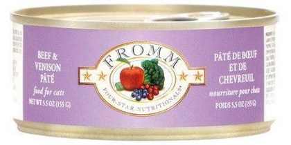 Fromm Beef & Venison Pate 5oz Canned Cat Food - Paw Naturals