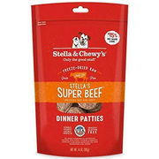 Stella & Chewy's Stella's Super Beef Dinner Patties Raw Freeze-Dried Dog Food 14oz - Paw Naturals