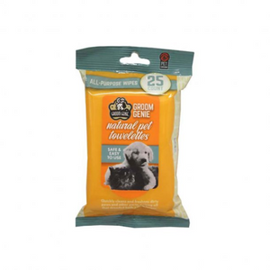 Multipet Groom Genie All Purpose Wipes for Dogs & Cats - Paw Naturals