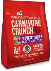 Stella & Chewy's Carnivore Crunch Turkey 3.25oz Freeze-Dried Dog Treats - Paw Naturals