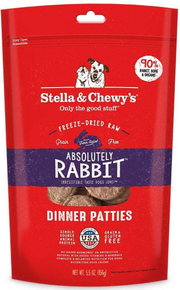 Stella & Chewy's Absolutely Rabbit Dinner Patties Raw Freeze-Dried Dog Food