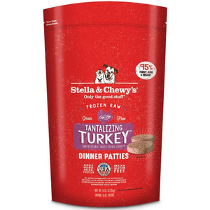 Stella & Chewy's Tantalizing Turkey Dinner Patties Raw Frozen Dog Food 3LB - Paw Naturals