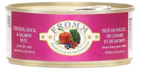 Fromm Chicken, Duck And Salmon 5oz Canned Cat Food