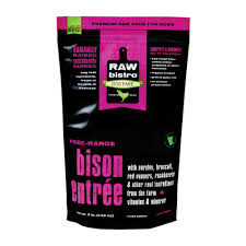 Raw Bistro Frozen Bison Entree For Dogs - Paw Naturals