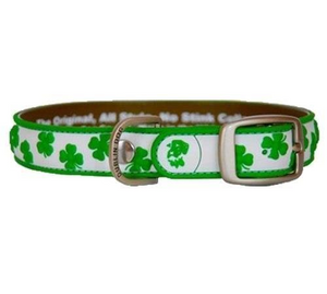 Dublin Dog All Style No Stink White Shamrock Collar Small