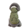 Sparky & Co Fleece-Lined, Hooded Green Army Parka