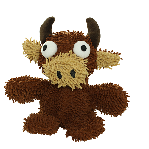Mighty Microfiber Ball Bull Dog Toy