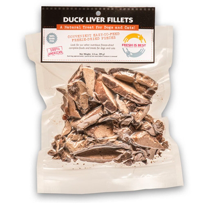 Fresh Is Best Freeze Dried Duck Liver