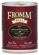 Fromm Grain Free Beef & Sweet Potato Canned Dog Food 12.2 Oz