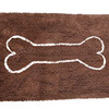 "Soggy Doggy Xl Doormat Dark Chocolate With Oatmeal Bone 36 X 60"" - Paw Naturals"