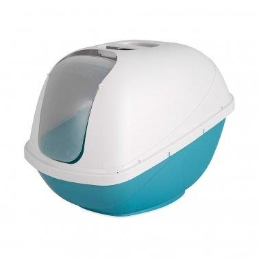 PetMate Hooded Litter Pan Blue & White - Large