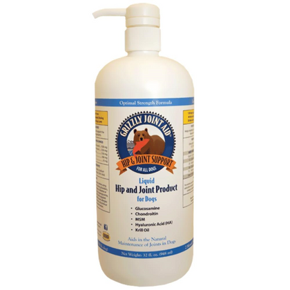 Grizzly Joint Aid Liquid Form for Dogs 16oz - Paw Naturals