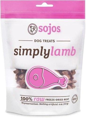 Sojos Simply Meat Lamb 4oz Freeze-Dried Dog Treats - Paw Naturals
