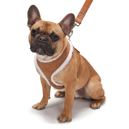 Zack & Zoey Shearling Harness Tan - Paw Naturals