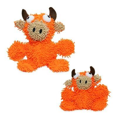 Mighty Microfiber Ball Bull Orange Dog Toy - Paw Naturals